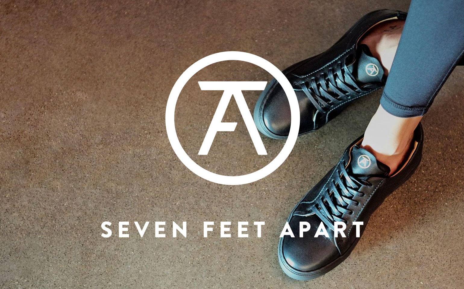 Seven Feet Apart - All Black Sneakers